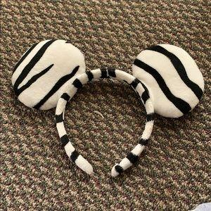 Zebra print Minnie ears